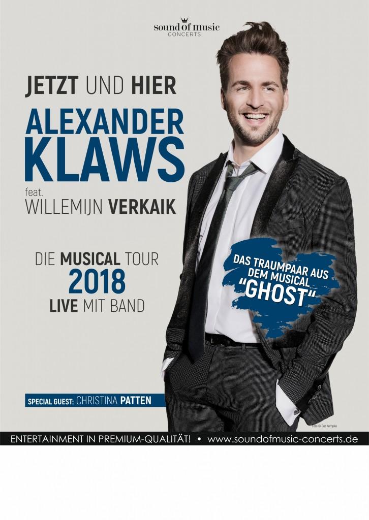 Plakat Alexander Klaws 2018